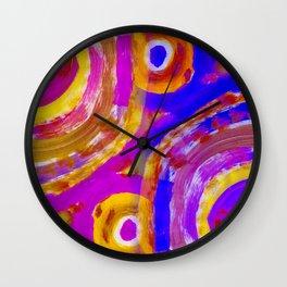 POOLS of SPIRALS Wall Clock