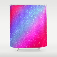 glitter Shower Curtains featuring glitter by haroulita