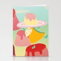 dessert Stationery Cards featuring Dessert by Loezelot