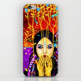 The girl and the leopard iPhone Skin