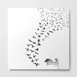 Sheba the Bird Worrier Metal Print
