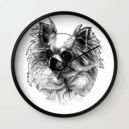 papillon dog Wall Clock