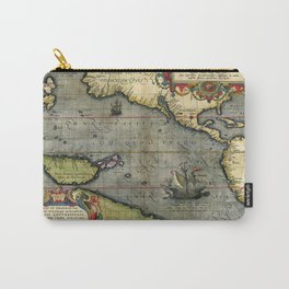 medieval travel map Carry-All Pouch