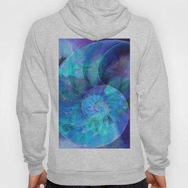 Blue Nautilus Shell  - Seashell Art By Sharon Cummings Hoody