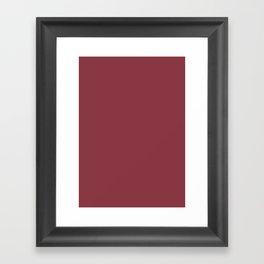 Solid pink Framed Art Print