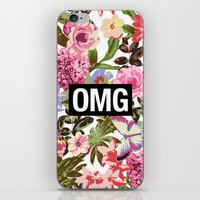 2pac iPhone & iPod Skins featuring OMG by Text Guy