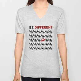 Be Different - Funny Cool Life Quote Unisex V-Neck