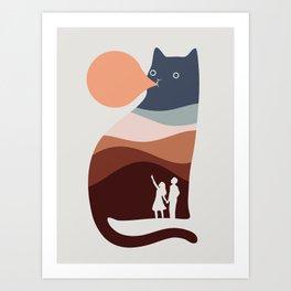 Cat Landscape 35 Art Print