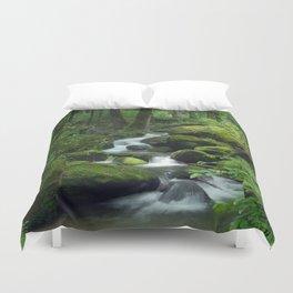 Summer Forest Brook Duvet Cover