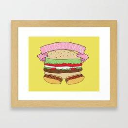 Hots and Hams Framed Art Print