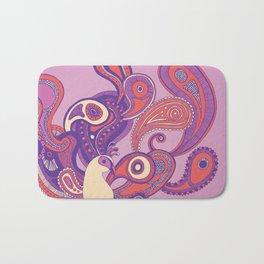 Purple Paisley Peacock Bath Mat