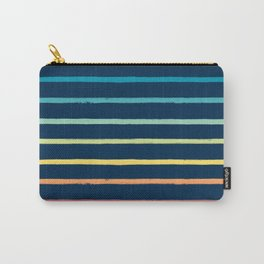 Blue Festival Rainbow Stripe Carry-All Pouch