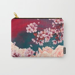 Full Bloom | Cherry pink Warhol Carry-All Pouch
