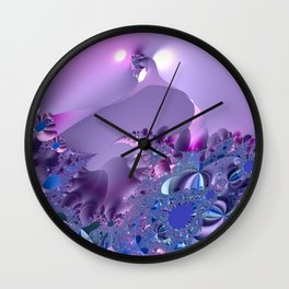Stormy fractal waters and the lighthouse Wall Clock