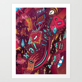 mash and sleep Art Print