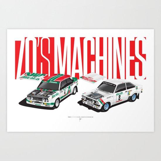 70's Machines Art Print
