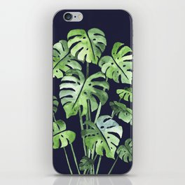 Delicate Monstera Blue #society6 iPhone Skin