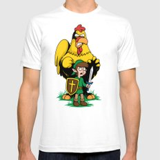 The Legend of Ernie (light background) White SMALL Mens Fitted Tee