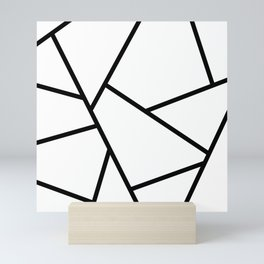 Black and White Fragments - Geometric Design I Mini Art Print