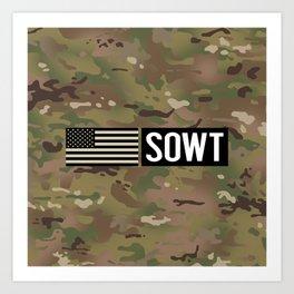SOWT (Camo) Art Print