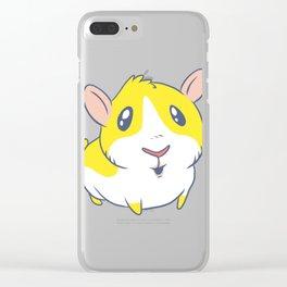 Cute & Kawaii Cartoon Yellow Guinea Pig Kids Decor Idea Animal Lover Art Clear iPhone Case