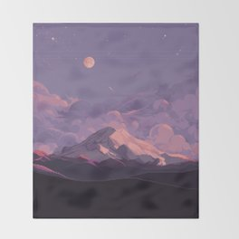 Mt Rainier Throw Blanket