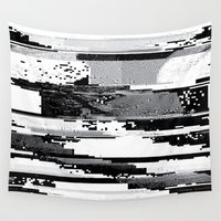 glitch Wall Tapestries featuring Glitch by poindexterity