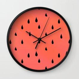 Watermelon rain Wall Clock