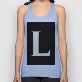 L MONOGRAM (BEIGE & BLACK) Unisex Tank Top