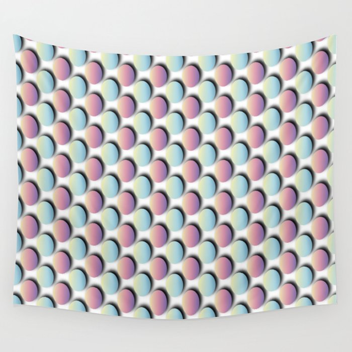 Pastel Easter Egg Pattern Wall Tapestry