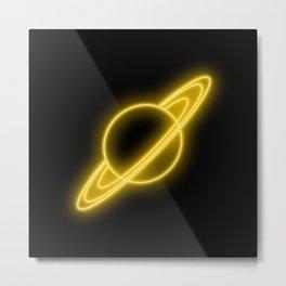 Saturn Light Metal Print