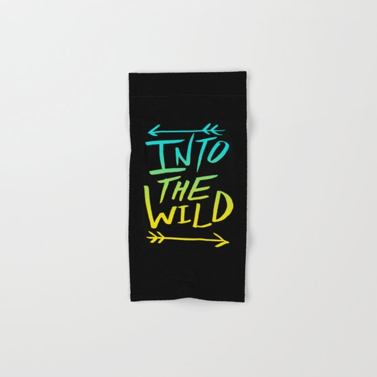 Into The Wild: Typography Hand & Bath Towel