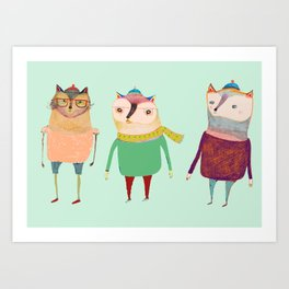 The Cats. Art Print