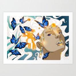 Butterflies Amazon Art Print