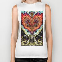 third eye Biker Tanks featuring Third Eye by FractalFox