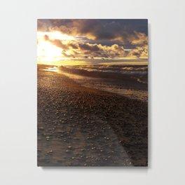 Stormy  Superior Sunset Metal Print