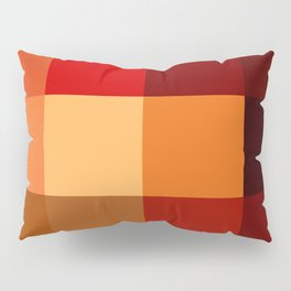 BLOCKS - RED TONES - 2 Pillow Sham