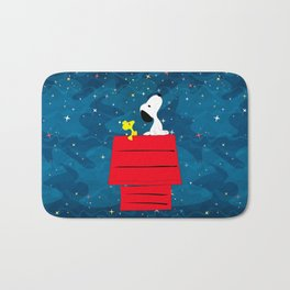 Snoopy Looking at The Stars Bath Mat