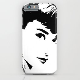 Audrey Simply Beautiful in Black and white iPhone Case