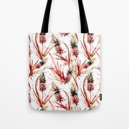 Tropical pink dream of pineapples Tote Bag