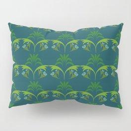 Green Wheat Floral Pillow Sham