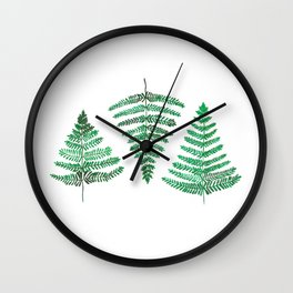 Fiordland Forest Ferns Wall Clock