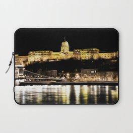 Budapest Chain Bridge And Castle Art Laptop Sleeve