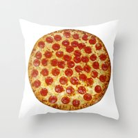 pizza Throw Pillows featuring Pizza by I Love Decor