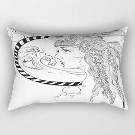 Octopus Woman Rectangular Pillow