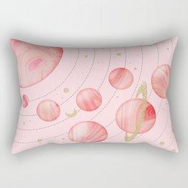 The Pink Solar System Rectangular Pillow