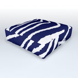 ZEBRA ANIMAL PRINT BLUE AND WHITE 2019 Outdoor Floor Cushion