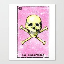La Calavera Mexican Loteria Bingo Card Canvas Print