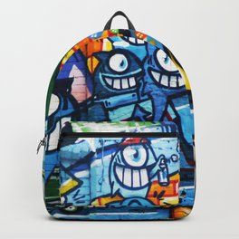 Graffiti Streetart fish comic with big eyes Backpack
