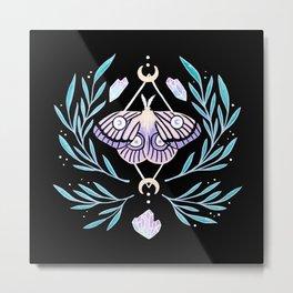 Moon Moth 01 | Nikury Metal Print